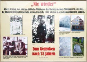 Bild 1: Collage von Otto Pröls zum Gedenken an Albert Schloß, 2020.